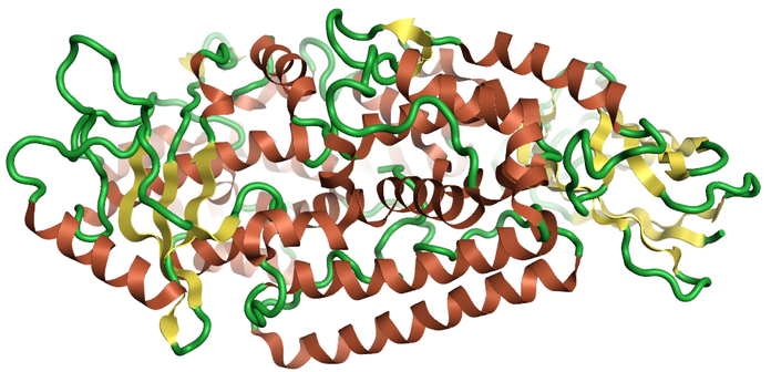 ribbon for the 2p0m crystal structure 2p0m