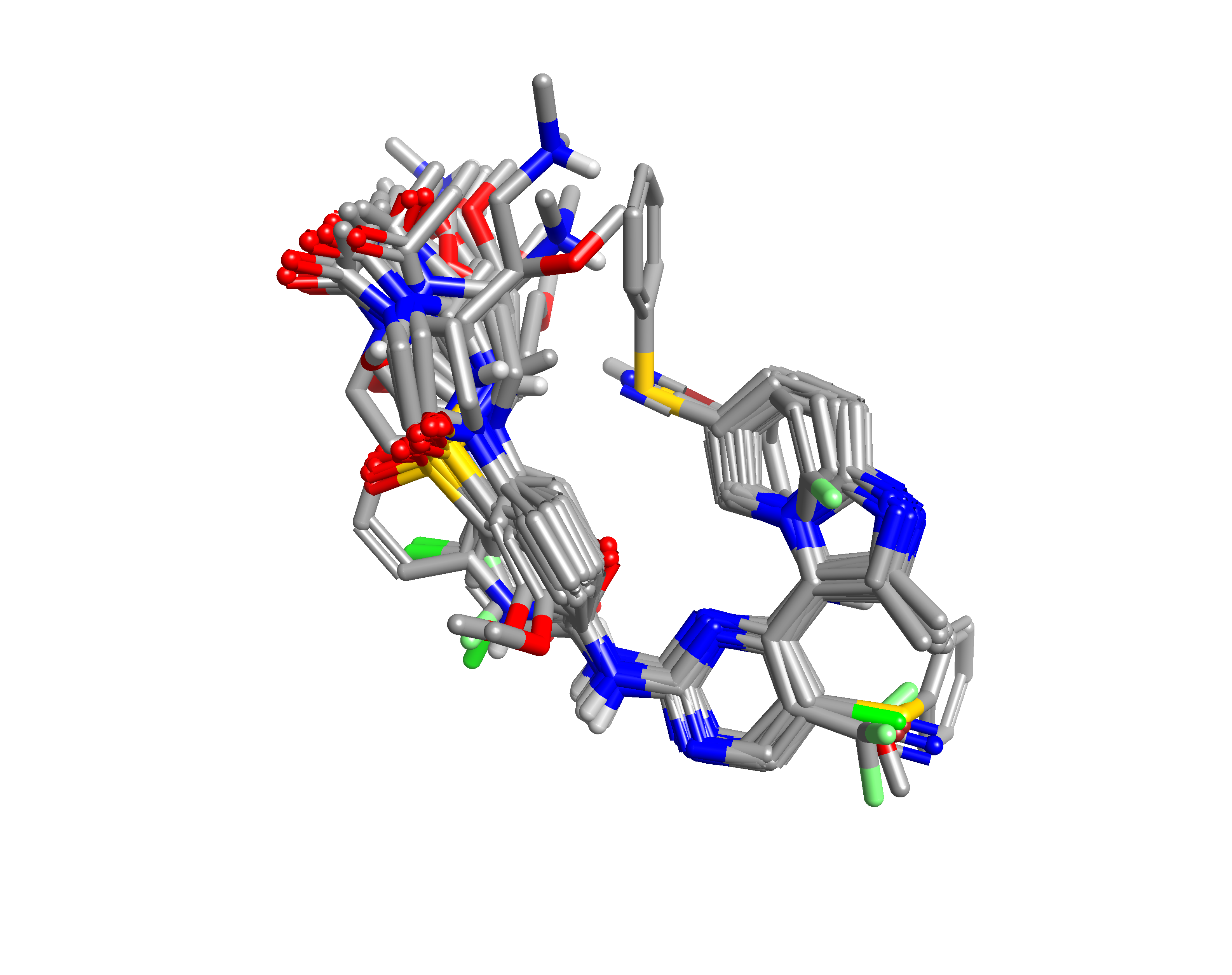 Figure 2_ Alignment of 38 CDK2 inhibitors to PDB1OIT and CHEMBL70808