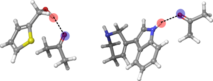 Structures of hydrogen-bonded complexes