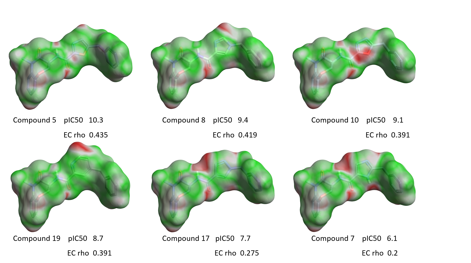 Figure 10_EC maps of a few examples with variation around the isoxazole ring