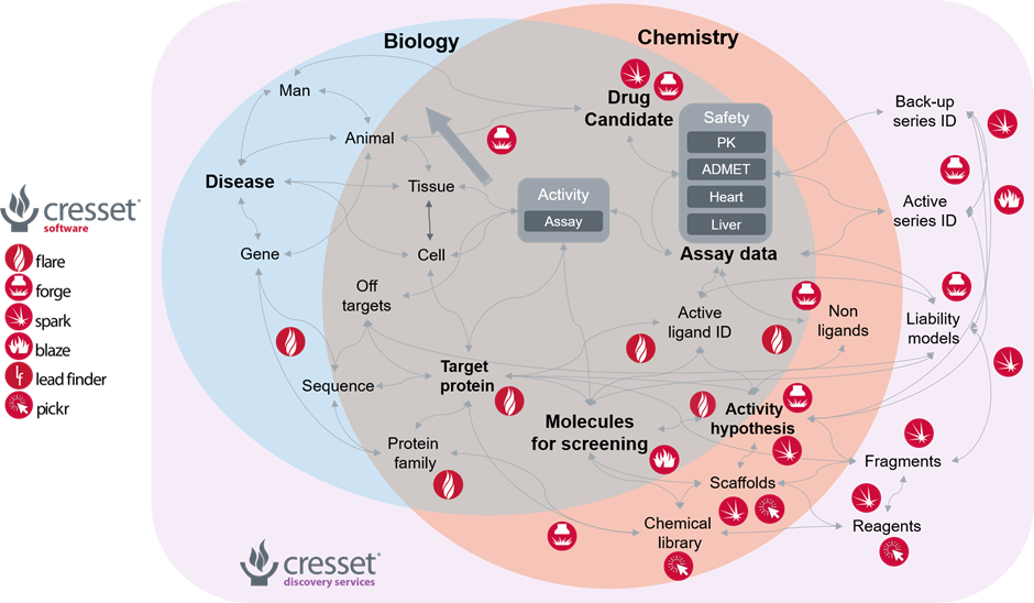 Figure 2_Cresset technology can help to steer the complex process of molecule discovery in the right direction.