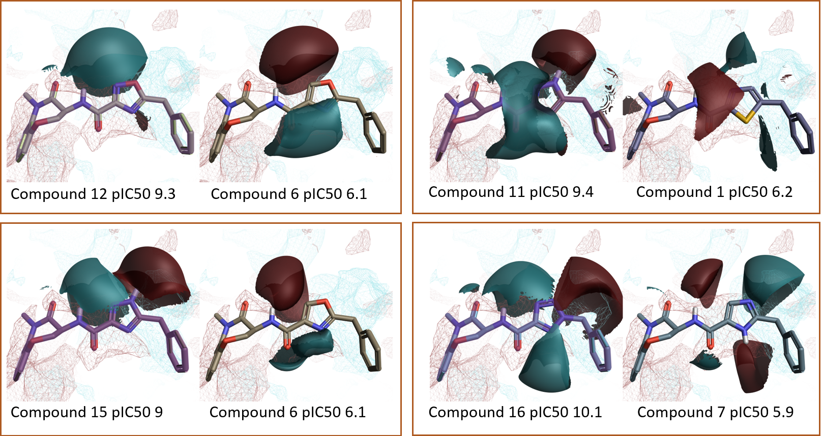 Figure 8_A few examples of 'Top Pairs' molecules