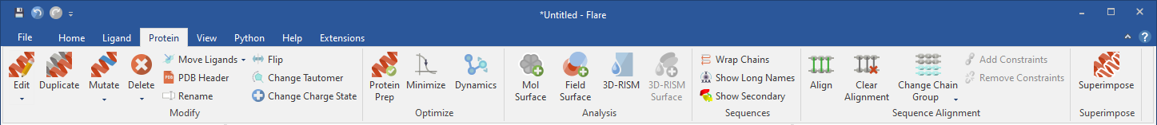 Flare has capabilities to prepare proteins for modeling studies