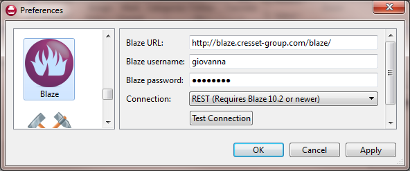 Set up of Forge Torch connection to Blaze
