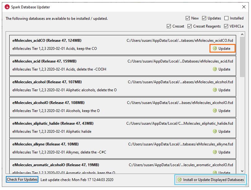 Spark Database Updater
