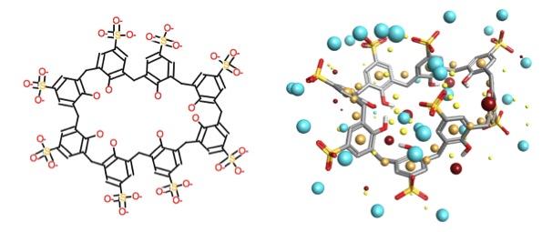 p-sulphonic calix[8]arene