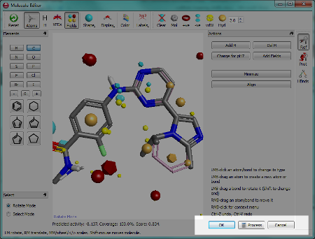 Exit buttons on Molecule Editor